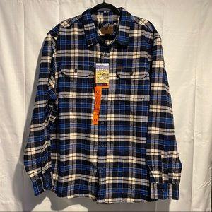 ORVIS Men's Size XXL Heavyweight Flannel Shirt NWT